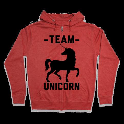 Team Unicorn Zip Hoodie