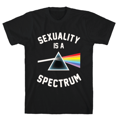 Sexuality is a Spectrum Mens T-Shirt