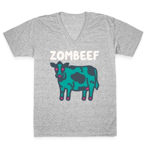 Zombeef  V-Neck Tee Shirt