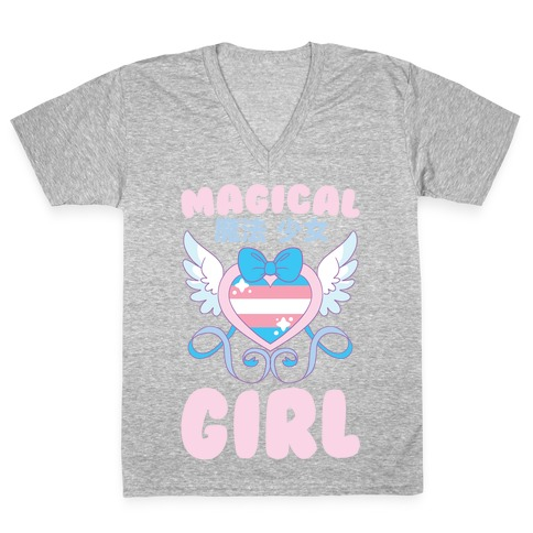 Magical Girl - Trans Pride V-Neck Tee Shirt