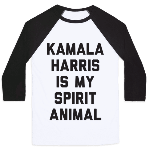 Kamala Harris Is My Spirit Animal Baseball Tee