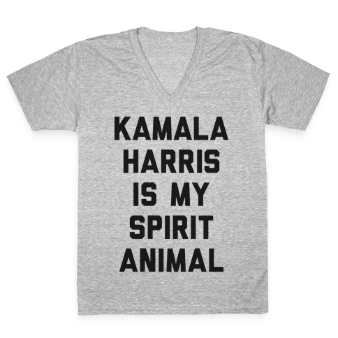 Kamala Harris Is My Spirit Animal V-Neck Tee Shirt