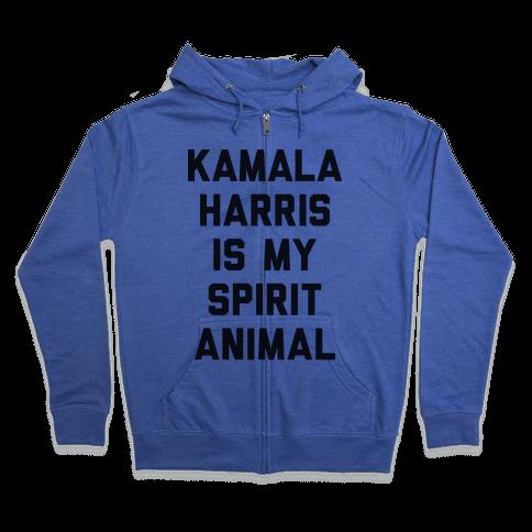 Kamala Harris Is My Spirit Animal Zip Hoodie