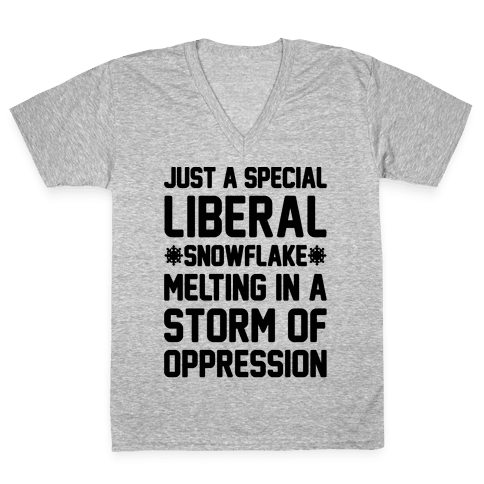 Just a Special Liberal Snowflake V-Neck Tee Shirt