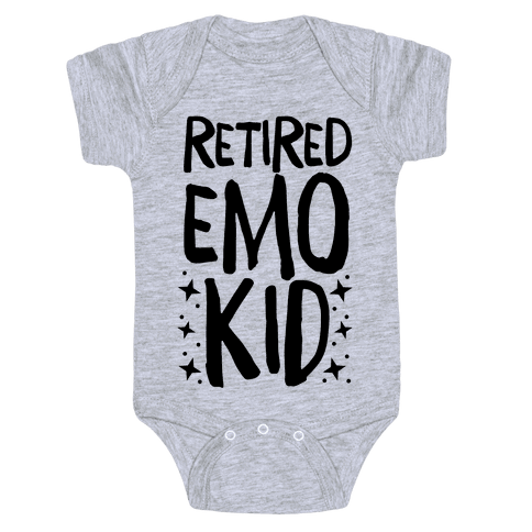 Retired Emo Kid Baby Onesy