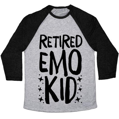Retired Emo Kid  Baseball Tee