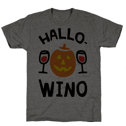 Hallo-Wino Pumpkin Mens T-Shirt