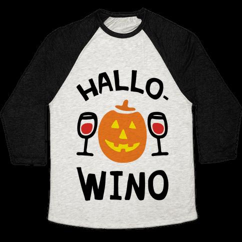 Hallo-Wino Pumpkin Baseball Tee