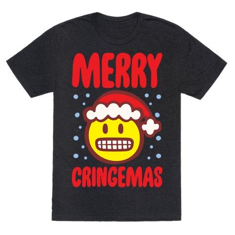 Merry Cringemas Parody White Print T-Shirt