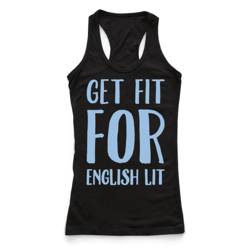 Get Fit For English Lit White Print