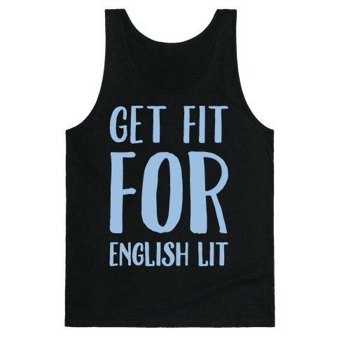 Get Fit For English Lit White Print Tank Top