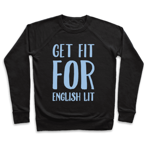 Get Fit For English Lit White Print Pullover