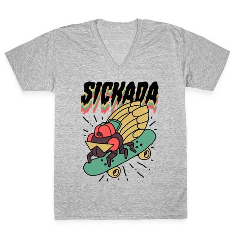 SICKada Cicada V-Neck Tee Shirt