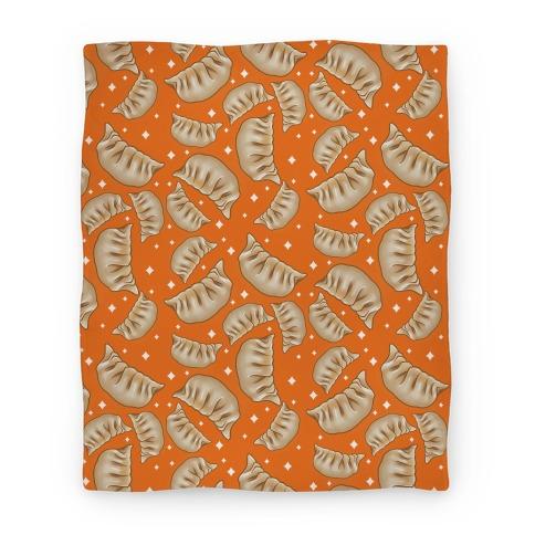 Dumplings Pattern Orange Blanket