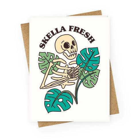 Skella Fresh Plants Greeting Card