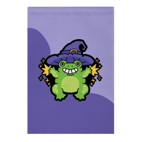 Magical Frog Witch Garden Flag