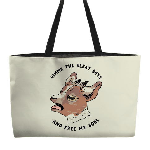 Gimme The Bleat Boys Weekender Tote