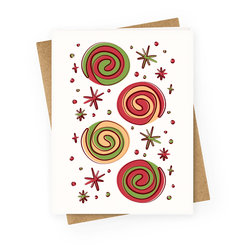 Christmas Pinwheel Cookies Greeting Card