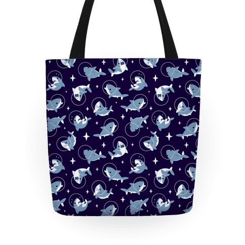 Space Shark Pattern Tote