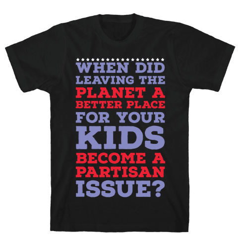 Leaving the Planet A Better Place Mens T-Shirt