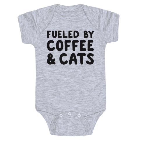 Fueled By Coffee And Cats Baby Onesy