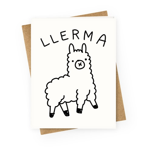 Derpy Llerma Greeting Card