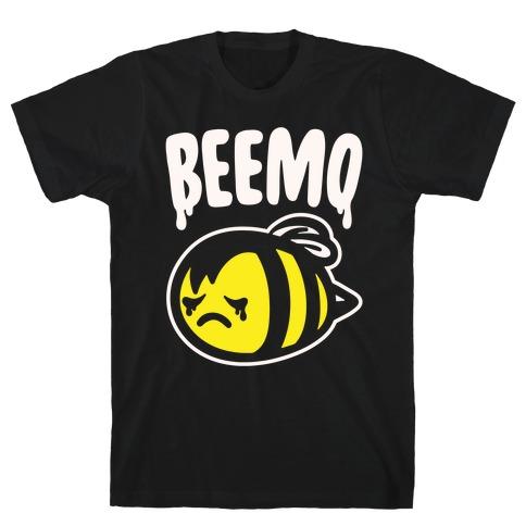 Beemo Emo Bee Parody White Print T-Shirt