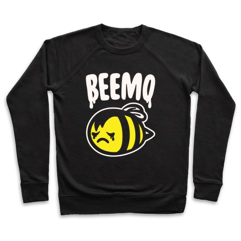 Beemo Emo Bee Parody White Print Pullover
