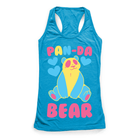 Pan-Da Bear Racerback Tank Top