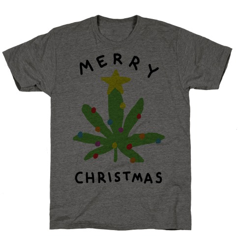 Merry Christmas Pot Leaf T-Shirt
