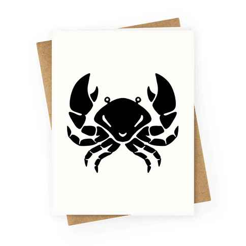 Zodiacs Of The Hidden Temple - Cancer Crab Greeting Card