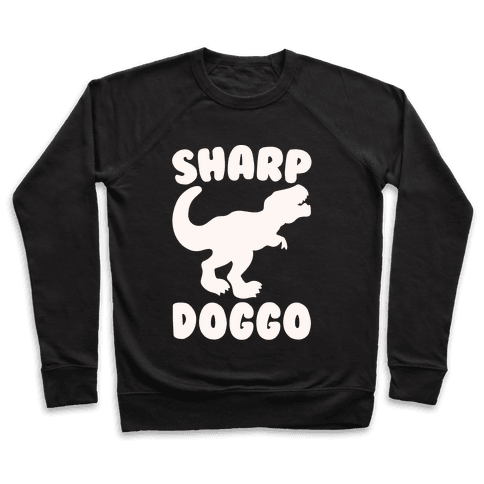 Sharp Doggo White Print Pullover