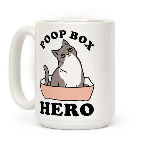 Poop Box Hero Coffee Mug