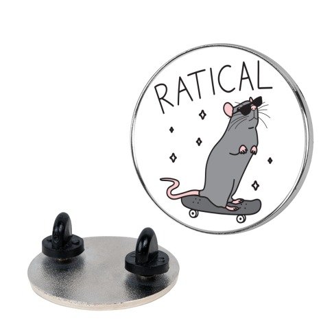Ratical Rat Pin