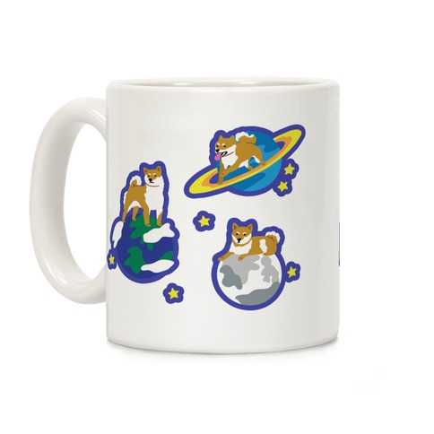 Shibas in Space Coffee Mug