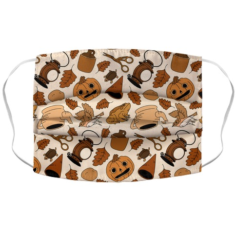 Into the Unknown Pattern Accordion Face Mask