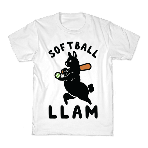 Softball Llam Kids T-Shirt
