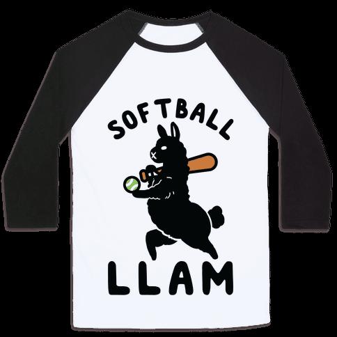 Softball Llam Baseball Tee