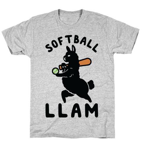 Softball Llam Mens/Unisex T-Shirt