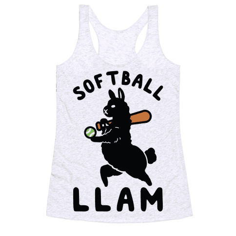 Softball Llam Racerback Tank Top
