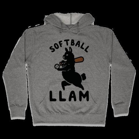 Softball Llam Hooded Sweatshirt