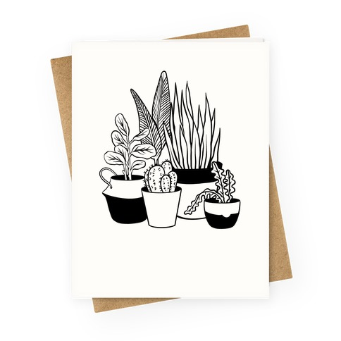 Houseplant Illustration Greeting Card