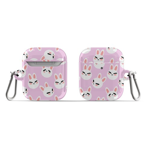 BunBun Pattern Pink AirPod Case