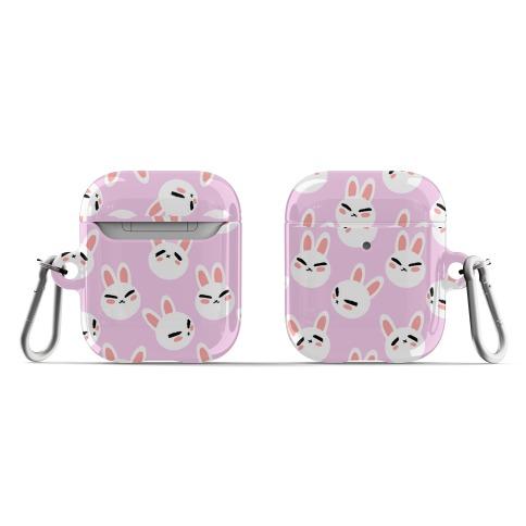 BunBun Pattern Pink AirPod Case