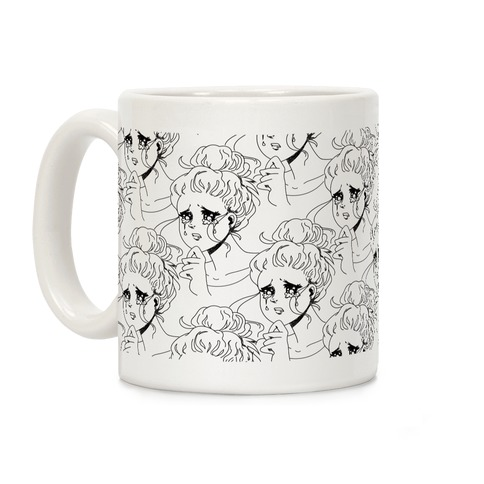 Crying Manga Girl Coffee Mug