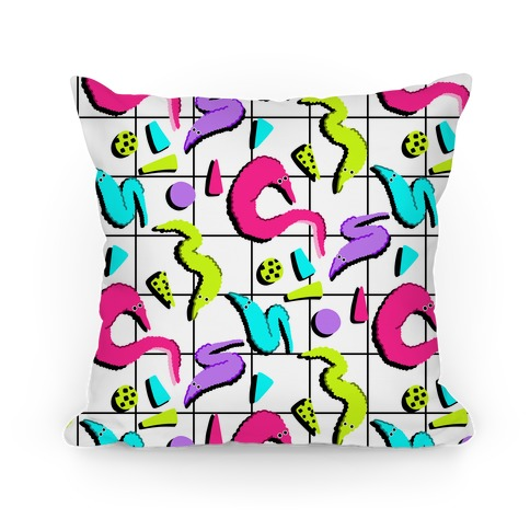 Retro Worm Pattern Pillow