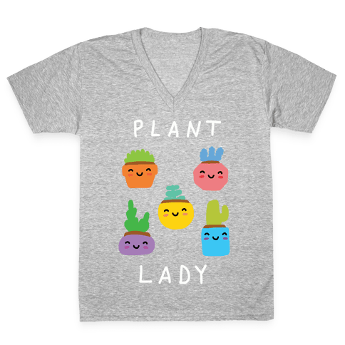 Plant Lady V-Neck Tee Shirt