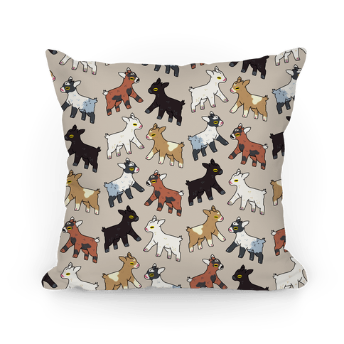 Baby Goats On Baby Goats Pattern Pillow