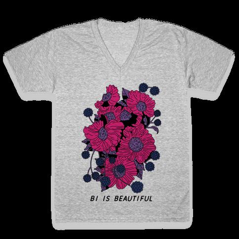 Bi is Beautiful V-Neck Tee Shirt