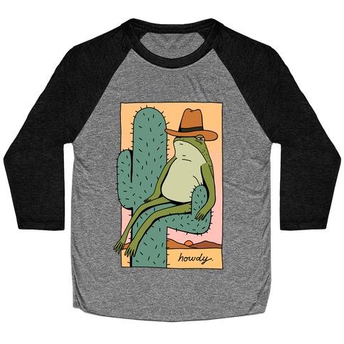 Howdy Frog Cowboy Baseball Tee